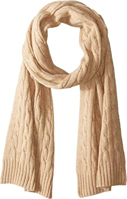 Cashmere Classic Cable Scarf