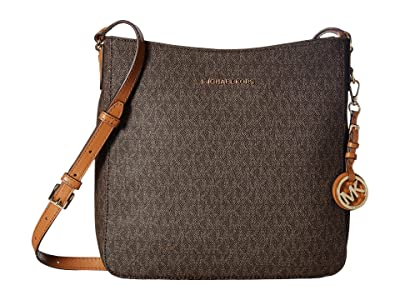 MICHAEL Michael Kors Jet Set Travel Large Messenger (Brown) Messenger Bags