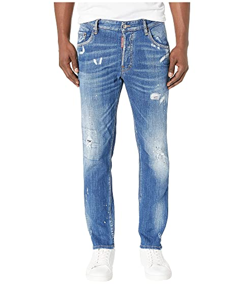 DSQUARED2 Skater Jeans in Faded Blue Wash
