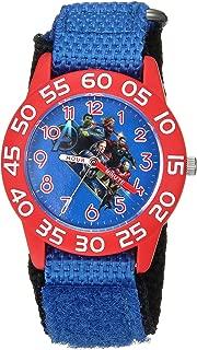 Marvel Boys Avengers Analog-Quartz Watch with Nylon Strap, Blue, 9.8 (Model: WMA000337)