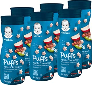 Gerber Puffs Cereal Snack, Apple Cinnamon, 1.48 Ounce, 6 Count