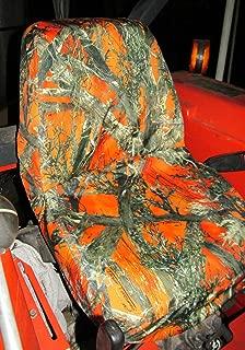 Durafit Seat Covers, Kubota Orange Camo Seat Covers for Tractor B2320, B2620, B2920, B3200, B7410, B7510, B7610, B7800, BX1850, BX2350, BX24, BX25, M5640, M7040
