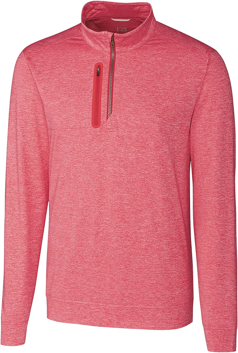 Cutter & Buck Big and Tall Stealth 1/2-Zip Pullover Cardinal Red