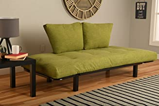 Kodiak Best Futon Lounger - MATTRESS ONLY - Sit Lounge Sleep - Small Furniture for College Dorm, Bedroom Studio Apartment Guest Room Covered Patio Porch (LIME GREEN LINEN)