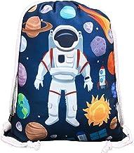 HECKBO® Kindergymtas met astronaut ruimtemotieven unisex | kleuterschool, wieg, reizen, sport | geschikt als gymtas, rugza...
