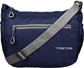 Trends Unisex Polyester and Nylon Lightweight Sling Bag (Navy Blue)