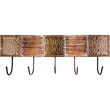 Marrakesch Orient /& Mediterran Interior  Amolika Porte-Manteau Mural en m/étal avec Crochets de 50 cm de Large et 5 Crochets de Fixation Mural pour la Porte ou la Porte