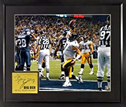 Pittsburgh Steelers Ben Roethlisberger SB XL TD 16x20 Photograph (SG Signature Engraved Plate Series Series) Framed