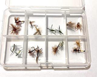Lazy river road outfitters Fly Box with 16 Premium Dry Flies