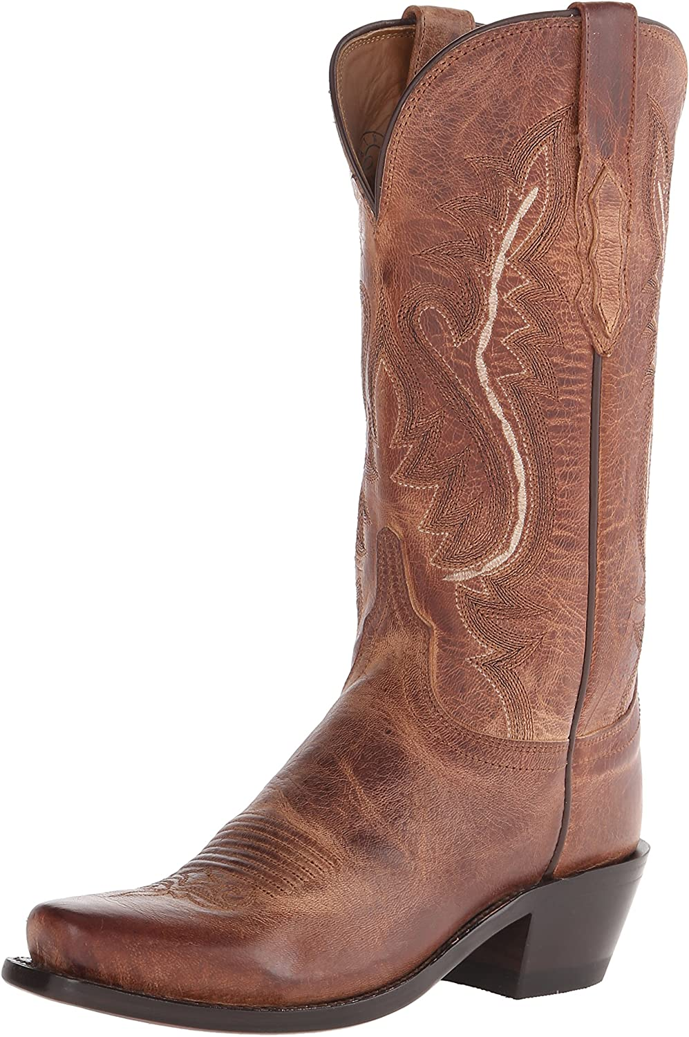 Lucchese Bootmaker Womens Cassidy-tan Mad Dog Goat Riding Boot