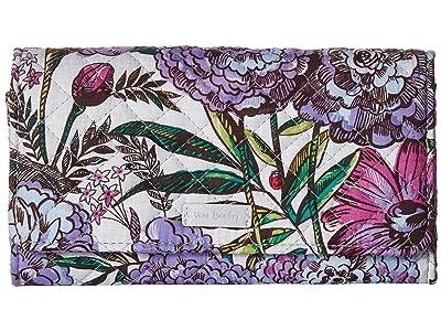 Vera Bradley Iconic RFID Audrey Wallet (Lavender Meadow) Wallet Handbags