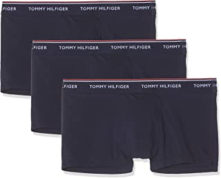 Tommy Hilfiger Trunks for Men, Set of 3 - Blue (Peacoat), Large (1U87903841409-409)