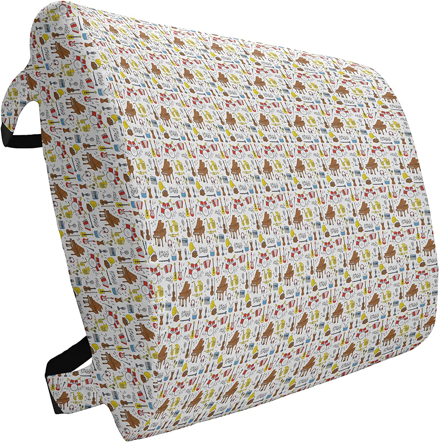 Ambesonne Jazz Max 63% OFF Music Lumbar Animer and price revision Pillow Instruments Musical Pattern