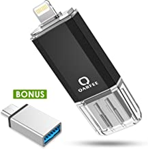 QARFEE Flash Drive 32GB for iPhone Photo Stick Type C USB 3.0 Flash Drive USB Stick External Storage for iOS OTG Android Mobile Photostick iPad Tablet MacBook Computer