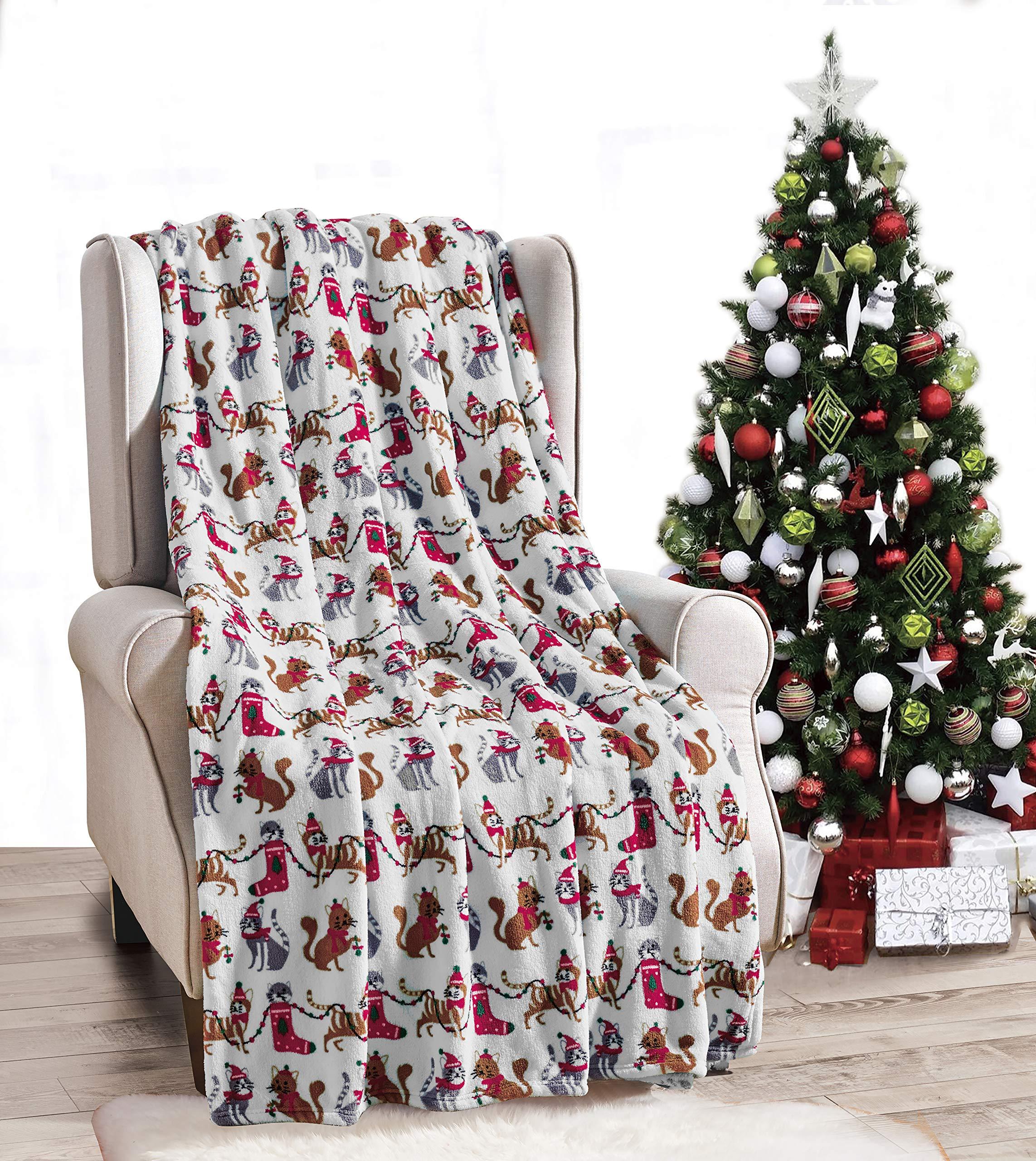 Cat Holiday Blanket Christmas Cat Blanket for Cat Personalized Cat Blanket Holiday Gift for Cat Cat Bed Christmas Gift for Cat