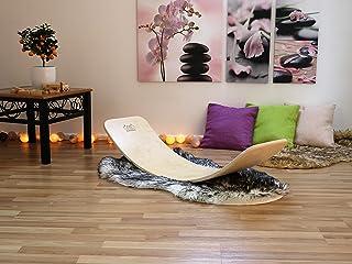 KateHaa Large Wooden Balance board,Balancines, Balancines de muelle, Montessori Wooden toy, Rocky balance board