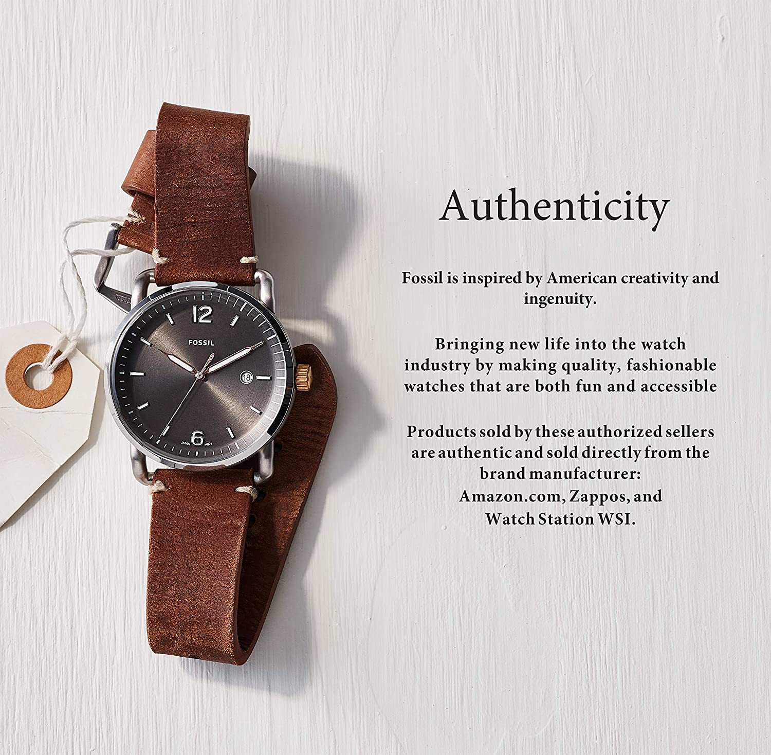 Fossil Womens Riley Stainless Steel Crystal-Accented Multifunction Quartz Watch