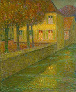 Odsan Gallery The House On The Canal - By Henri Le Sidaner - Giclee Canvas Prints 20