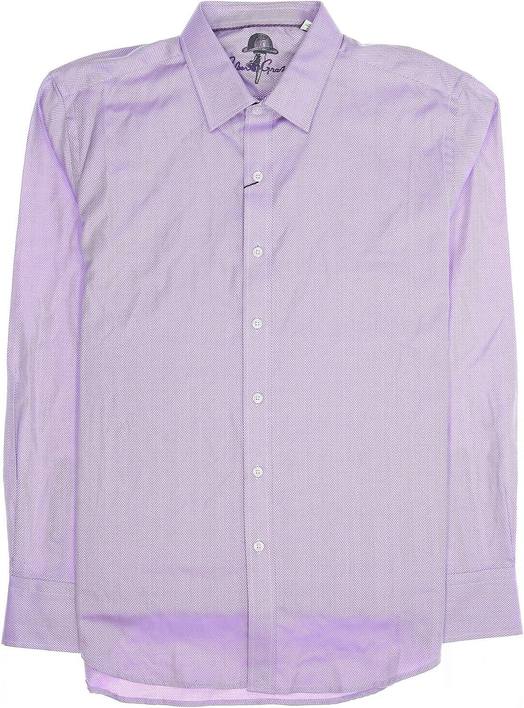 Robert Graham Camomile' Mens Light Purple Striped Button Down Shirt