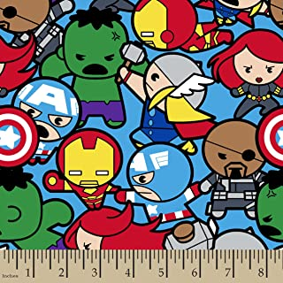 Springs Creative - Fabric 60589-A62331 Marvel Kawaii All in The Pack, Multi