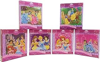 Set of 6 Princess Puzzles. Different Pictures as Shown. Ariel, Belle, Jasmine, Tiana, Rapunzel, Aurora