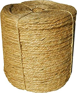 Sisal Rope Twine 1/4 inch x 1000 ft - Bulk Wholesale - Similar to Home Depot, Walmart, Lowes by Sandbaggy (2 Rolls)