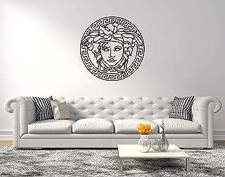 Greek Medusa Logo - Wall Decal for Home Bedroom Living Room (Wide 40
