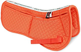 ECP All Purpose Diamond Quilted Cotton English Half Saddle Pad Therapeutic Contoured Correction Support Memory Foam Pockets for Dressage, Jumping, Riding, Training, Eventing, Showing