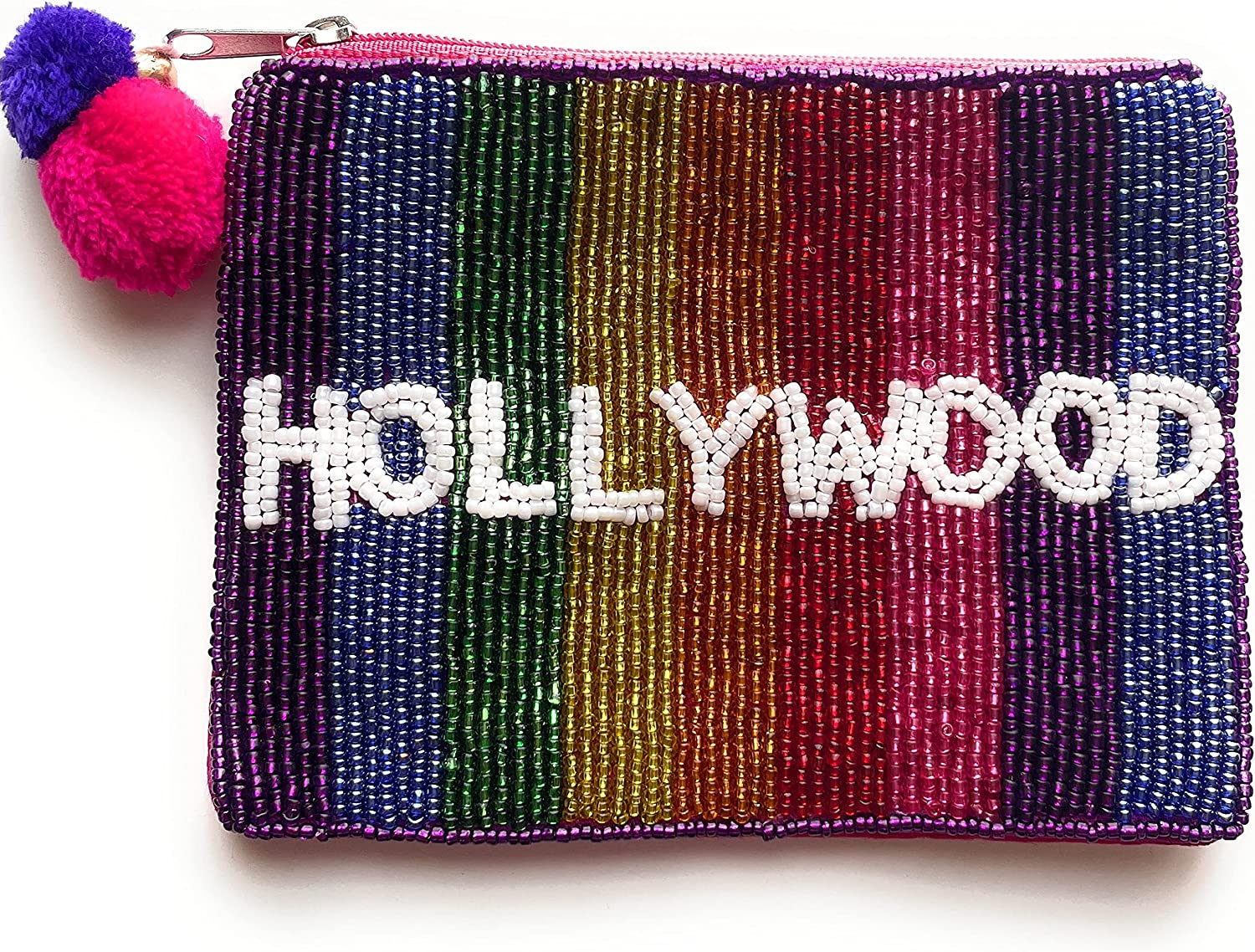 Hollywood Coin Purse Pouch, Coin Purse Pouch, Beaded Coin Purse, Cute Coin Purse, Beaded Purse, Summer Coin Purse, Best Friend Gift, Pouches, Boho bags, Wallets for her