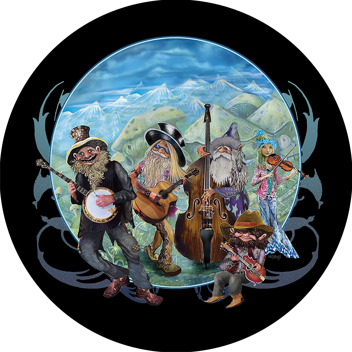 TIRE Jacksonville Mall COVER CENTRAL Gnome Bluegrass Max 62% OFF Tire Wheel Spare Cover Band
