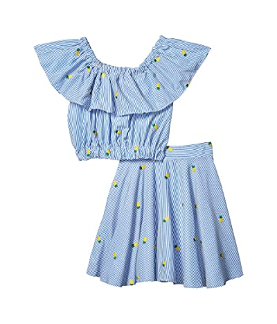 fiveloaves twofish Cali Pineapple Dress Set (Little Kids/Big Kids) (Blue) Girl