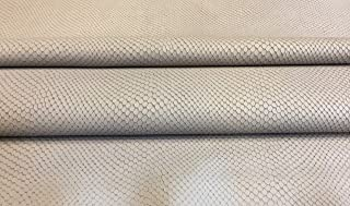 snakeskin embossed leather