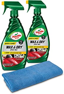 Turtle Wax 50834 1-Step Wax & Dry-26 oz. Double Pack with Microfiber Towel, 52...