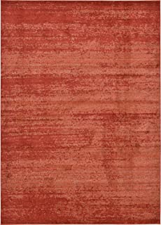 Over-Dyed Modern Vintage Rugs Terracotta 8' x 11' 4 FT Palma Collection Area Rug - Perfect for Any Place