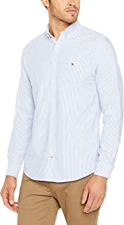 TOMMY HILFIGER Men's Ithaca All Over Stripe Shirt, Blue/White