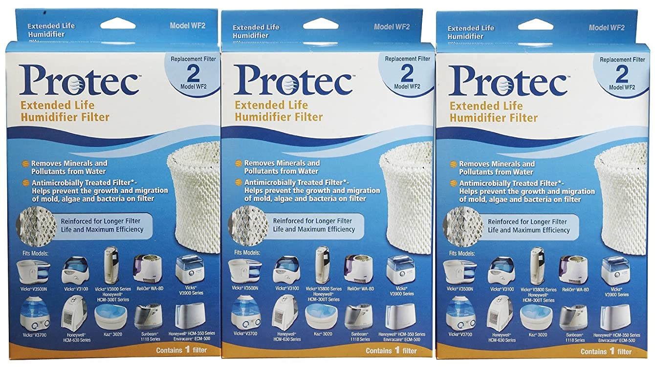 Ka 710465376083 Protec WF2 Extended Life Replacement Humidifier Filter (3-Pack)