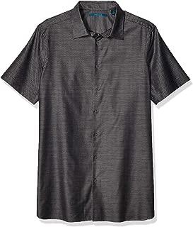 Perry Ellis Men's Big and Tall Horizontal Stripe Dobby Shirt