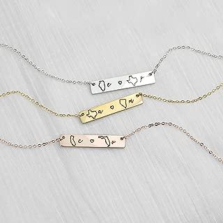 long distance friendship necklace