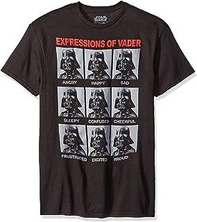 Star Wars the Many Expressions of Darth Vader Men's T-shirt