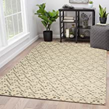 "Rugsville Kynlee Geometric Ivory Modern Carpet 5'3"" x 7'1"""