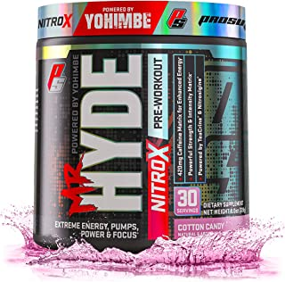 ProSupps Mr. Hyde NitroX Pre-Workout Powder Energy & Nitric Oxide Boosting Drink, Intense Sustained Energy, Pumps & Focus Powered by Yohimbe, Beta Alanine, Creatine & Nitrosigine, 30 True Servings