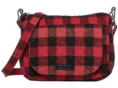 Vera Bradley Carson Mini Shoulder Bag (Garnet Buffalo Check) Cross Body Handbags