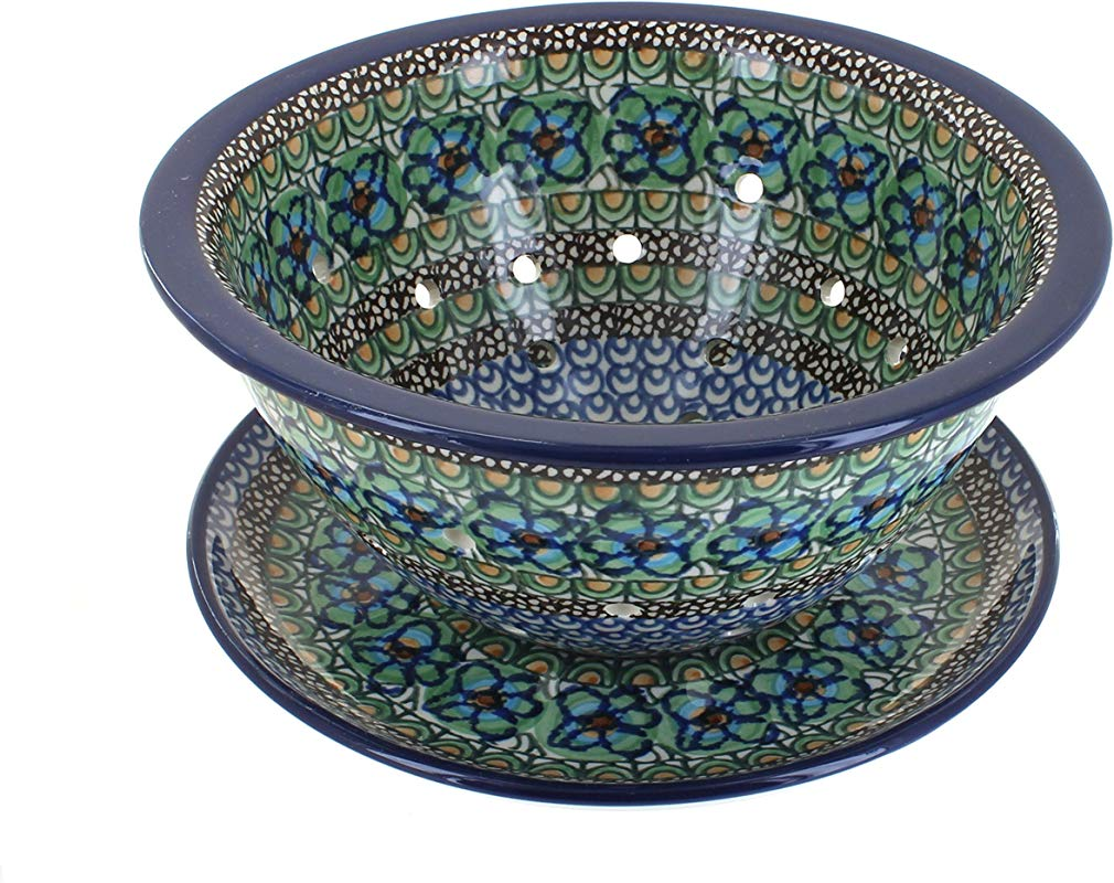 Polish Pottery Mardi Gras Berry Bowl