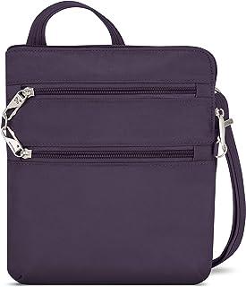 Travelon Anti-Theft Classic Slim Dbl Zip Crossbody Bag