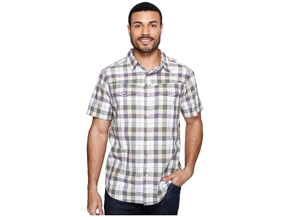 Columbia Leadville Ridgetm Short Sleeve Shirt (Granite Check) Men