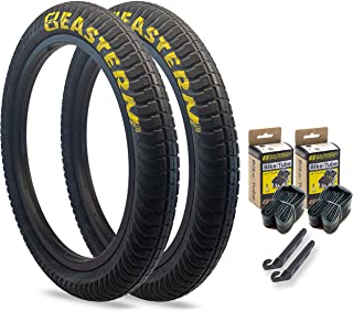 Eastern Bikes Curb Monkey 20 x 2.4 Inch Tire, with or Without Tube, Silver or Yellow Logo. Comes with Tire Lever Tools
