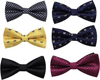 Pre Tied Formal Suit Bow Ties for Men (6 Pcs) by JAIFEI|Adjustable Neck Strap