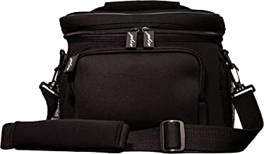 yohino Neoprene Lunch Bag with Shoulder Strap (Black), Insulated Leakproof Travel Carryall Tote