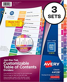 Best table of contents binder template Reviews