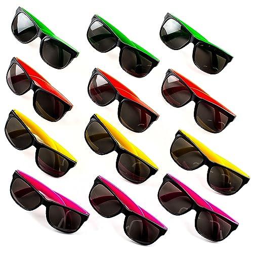 fe1d3d4a55 Neliblu Neon Bulk Kids Sunglasses Party Favors - 24 Pack - Bulk Pool Party  Favors